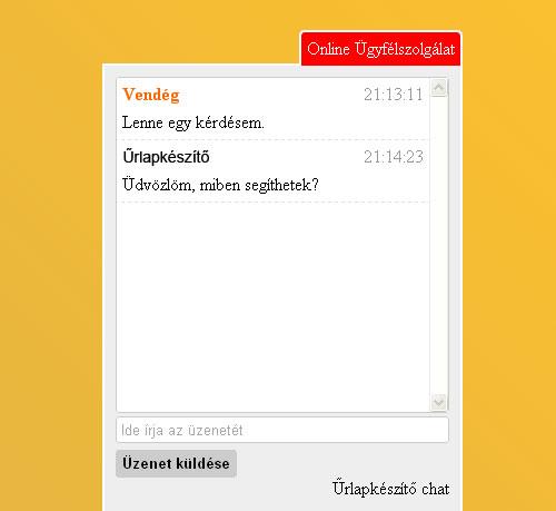 Chat - Online Ügyfélszolgálat
